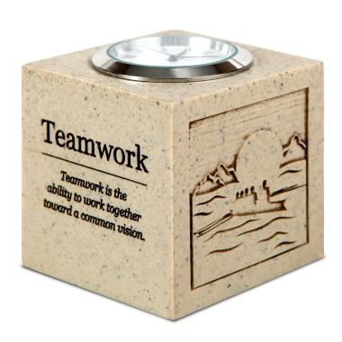 Teamwork Cube Desk Clock