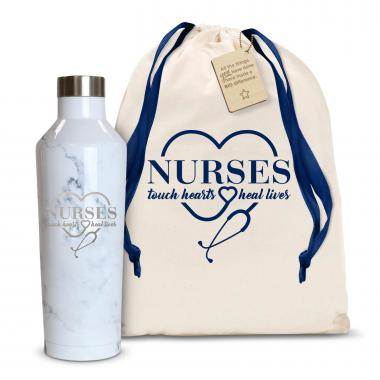 Nurses Touch Hearts 16oz. Stainless Steel Canteen