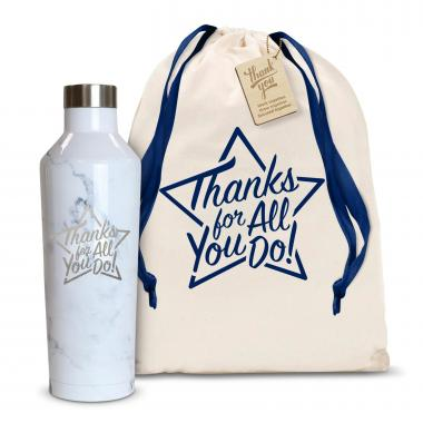 Thanks for All You Do Star 16oz. Stainless Steel Canteen