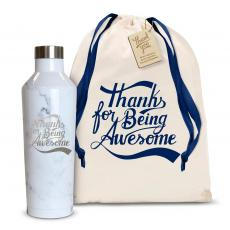Thank You Gifts - Thanks for Being Awesome 16oz. Stainless Steel Canteen