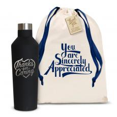 Thank You Gifts - Thanks for Caring 16oz. Stainless Steel Canteen