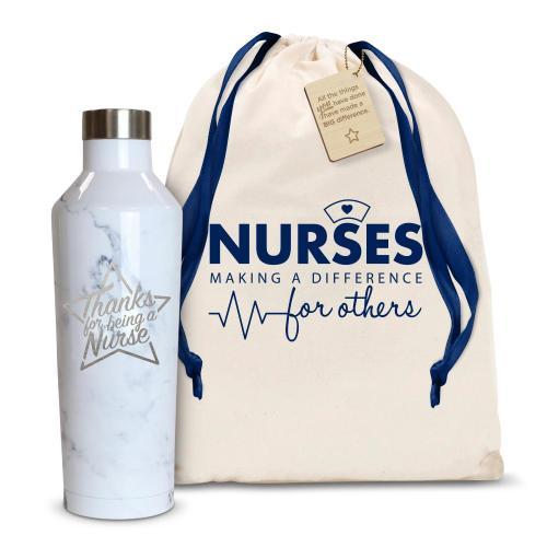 Thanks Nurse Star 16oz. Stainless Steel Canteen