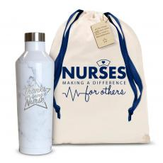 Thanks Nurse Star 16oz. Stainless Steel Canteen