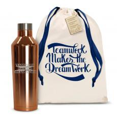 Vacuum Insulated - Teamwork Dream Work 3D 16oz. Stainless Steel Canteen
