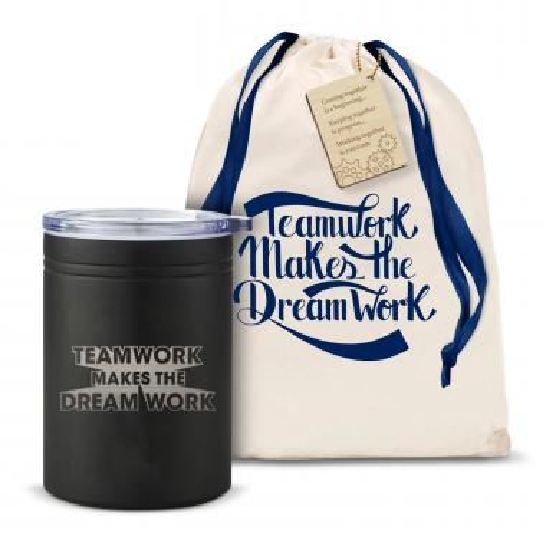 Teamwork Dream Work 3D Can Cozy
