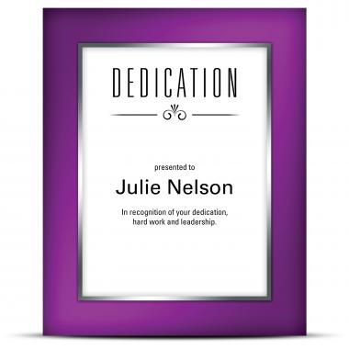 Prism Plaque Purple