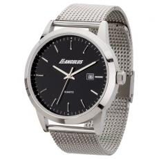 Fashion Accessories - Unisex style watch with 42mm polished silver metal case