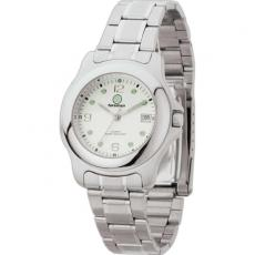 Fashion Accessories - Men's -  Water resistant watch with metal case, folded steel bracelet and date display