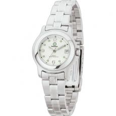 Fashion Accessories - Ladies' -  Water resistant watch with metal case, folded steel bracelet and date display