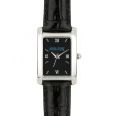 Fashion Accessories - Ladies' -  Watch with black dial, metal case, mineral crystal