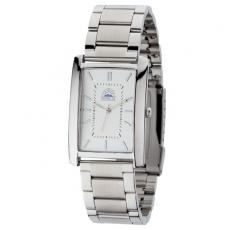 Fashion Accessories - Men's 28mm -  Watch with polished silver metal case raised index