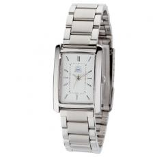 Fashion Accessories - Women's 22mm -  Watch with polished silver metal case raised index