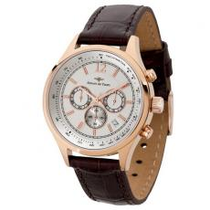 Fashion Accessories - Women's 34mm -  Chronograph watch with rose gold finish date display