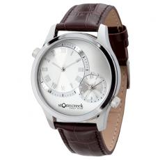 Fashion Accessories - Unisex watch with polished silver metal case