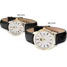 Fashion Accessories - Men's -  Watch with two tone gold and silver finishing and date display