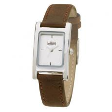 Fashion Accessories - Women's 20mm -  Watch with rectangular and polished silver metal case