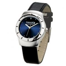 Fashion Accessories - Men's 38mm -  Watch with two-tone silver case and blue sunray dial
