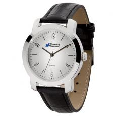 Fashion Accessories - Men's 38mm -  Classic style watch with polished silver finish