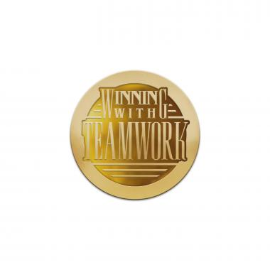 Winning With Teamwork Classic Lapel Pin
