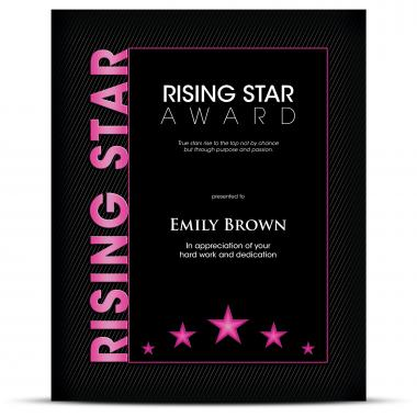 Thematic Plaque Rising Star