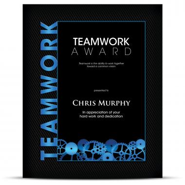 Thematic Plaque Teamwork