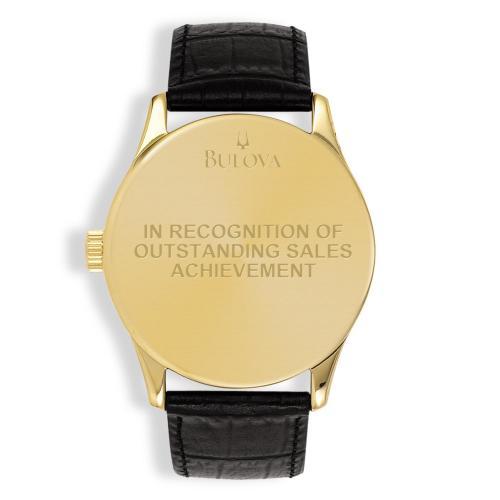 Bulova Round Diamond & Leather Custom Watch