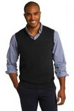 Vests General - Port Authority<sup>®</sup> - L;M;S;XL;XS -  V-neck sweater vest, 60 / 40 cotton / nylon. Blank