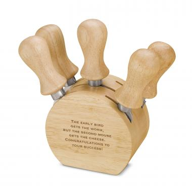 Personalized 5 Piece Cheese Set