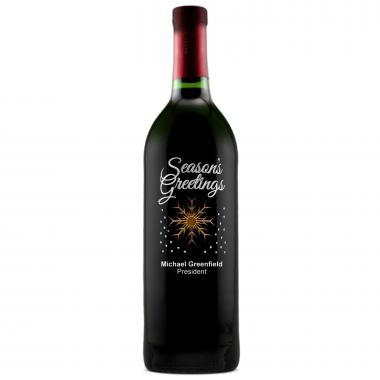 Seasons Greetings - Personalized Bottle of Wine