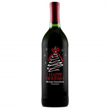 Christmas Tree - Personalized Bottle of Wine
