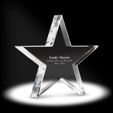 Star Crystal Paperweight