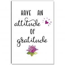 Motivational Posters - Atittude of Gratitude Lotus Inspirational Art