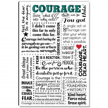 Courage Quote Inspirational Art