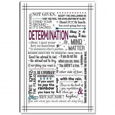 Determination Quote Inspirational Art