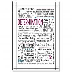 Motivational Posters - Determination Quote Inspirational Art