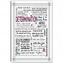 Determination Quote Inspirational Art