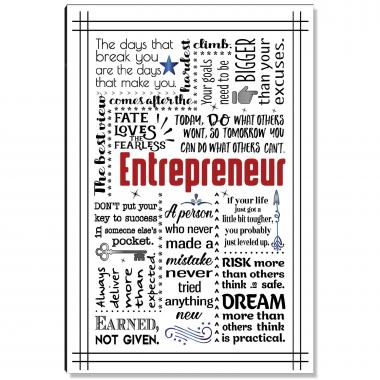 Entrepreneur Quote Inspirational Art