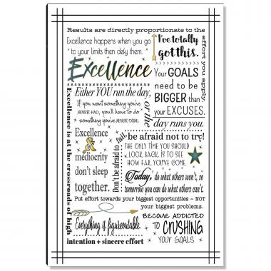 Excellence Quote Inspirational Art