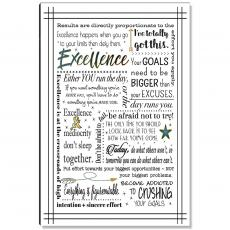 Motivational Posters - Excellence Quote Inspirational Art