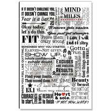 Motivational Posters - Fit Jog Female Inspirational Art
