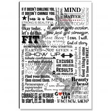 Motivational Posters - Fit Lift Female Inspirational Art
