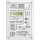 Focus Quote Inspirational Art