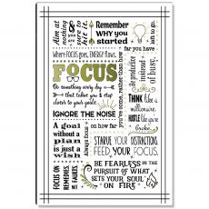 Motivational Posters - Focus Quote Inspirational Art