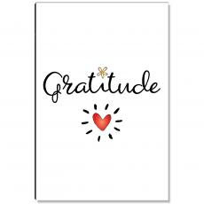 Motivational Posters - Gratitude Heart Inspirational Art