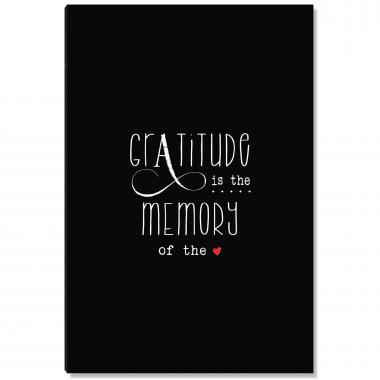 Gratitude Memory Black Inspirational Art