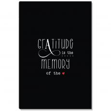 Motivational Posters - Gratitude Memory Black Inspirational Art