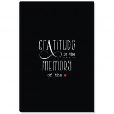 Newest Additions - Gratitude Memory Black Inspirational Art