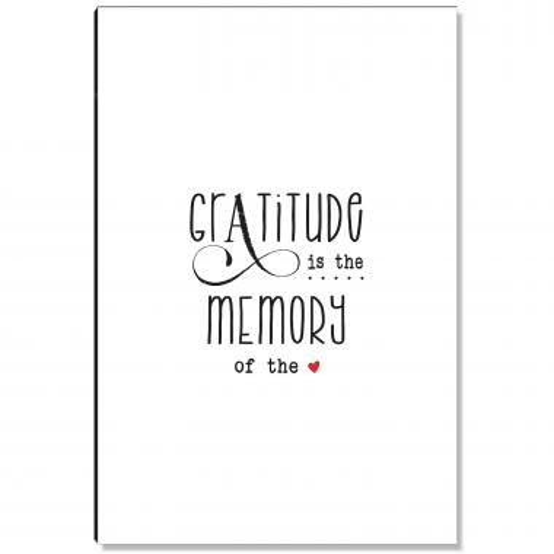 Gratitude Memory White Inspirational Art