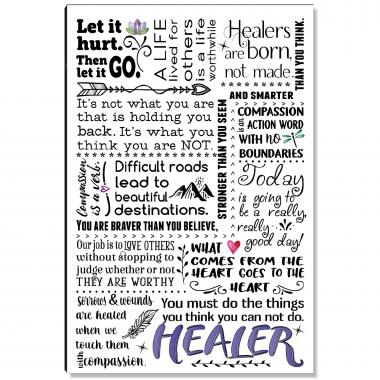 Healer Quote Inspirational Art