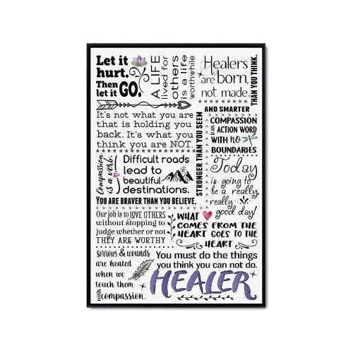 Healer Quote Inspirational Art